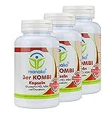 manako 3er KOMBI Kapseln Glucosamin MSM Chondroitin, 3 x 120 Stück, Dose a 84 g (3 x 120 Kapseln)