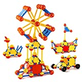 Cossy STEM Learning Toy Engineering Construction Building Blocks 198 Pieces Kids Education...