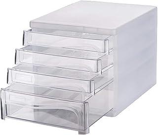 KANJJ-YU Bureau de dépôt armoire à tiroirs Mini Classeur Alimentation de bureau Boîte de rangement Classeur (Couleur: Blan...