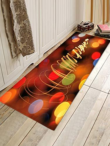 HJFGIRL Teppich Mode 40Cm X 60Cm Weihnachtsgirlande Baum Schneemann Elch Anti-Rutsch-Fußmatte Küche Bodenmatte Teppich Anti-Rutsch-Boden Party Dekor,D,80x120cm(31x47inch)