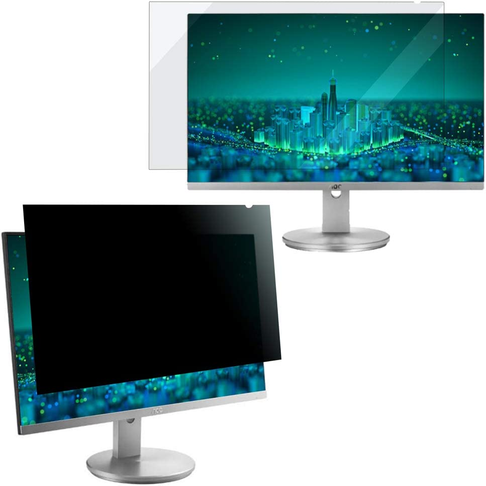 Ogakey Privacy Screen Filter for 19 Inches Desktop Computer Square Monitor with Aspect Ratio 5:4, Anti Glare and Anti Blue Light Protection (19.0