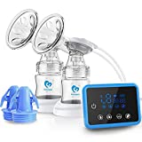 Breast Pump, Bellababy Portable Silicone Breastfeeding Pumps with Lid, BPA Free & 100% Food Grade Silicone, Small & Discreet Breast Milk Pump for Mother