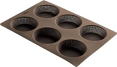 Lekue 6 Cavity Micro Perforated Round Roll Baking Pan, Brown