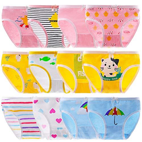 Anntry Bequeme Baumwollene Kinder-Unterhosen Unterwäsche für Kleine Mädschen Höschen 2-10 Jahre. (Eine Packung von 6-12 Stücke)