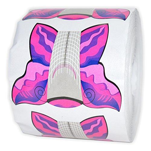 Modellierschablonen Stiletto selbstklebend - 1 Rolle = 500 Stück für die Acryl- oder Gel-Modellage