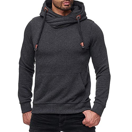 Londony ‿ Clearance Sales,Men's Sweater Jumper Hoodie Sweatshirt Pullover Longsleeve Tops with Kangaroo Pocket
