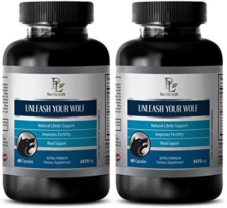 Sex Pills for Longer Sex Men Natural Unleash Your Wolf Male libido Supplements 2 Bottle 120 product image