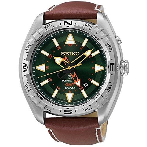 Seiko Kinetic Prospex de la Hombre-Reloj analógico de Cuarzo Cuero SUN051P1
