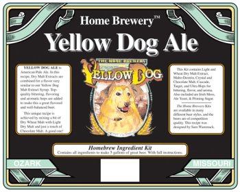 Yellow Dog Pale Ale Home Beer Brewing Ingredient Kit