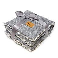 Fauna® Dog Cat Puppy Luxury Soft Warm Grey/Check Reversible Fleece Blanket Throw Pad (87 x 64cm) (Gr...