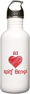 CafePress - I heart Speech Therapy - red Stainless Water Bottl - Stainless Steel Water Bottle, 1.0L Sports Bottle