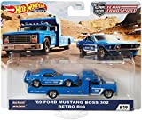 Hot Wheels Premium Car Team Transport – Car Culture (#19 – 69 Ford Mustang Boss 302 + Retro Rig)