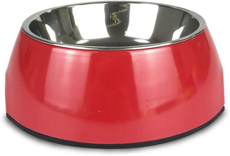 ForeverYou Dog Bowl Rice Basin Big Dog Dog Basin cat Bowl Double Bowl Stainless Steel, E