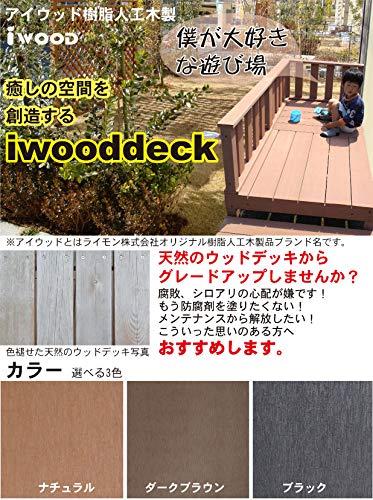 igardenアイガーデンアイウッドデッキPLUS2点セットダークブラウンアイガーデンオリジナル人工木ウッドデッキ、樹脂木、木樹脂、プラウッド、ウッドデッキセット、木製デッキ、縁台