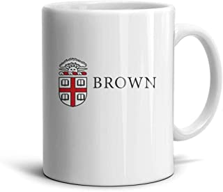 Defoliate Coffee or Tea Mugs Brown-University-Logo- Novelty Daily Use Ceramic