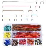 Trsnzul Breadboard Puentes de Alambre Kit 560 Piezas Placa Protoboard Cable de Puente Breadboard Jumper Wire Kit U Forma Caja de Alambre de Cable Flexibles Breadboard Jumper Wire(Color Aleatorio)