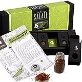 Salatgewürze – MeinGenuss Gewürzset Salate – Das perfekte Geschenkset für Geniesser – Originelles Geschenk für Fans leichter Kost – 5 Gewürze und Kräuter mit Rezepten