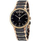 Orologio Rado Centrix da uomo automatico in ceramica e acciaio dorato R30158172.