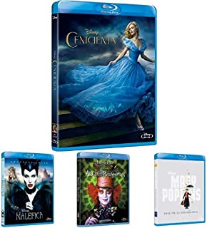 Pack Disney Imagen Real (Cenicienta + Maléfica + Alicia + Mary Poppins + Al Encuentro De Mr Banks + Tomorrowland) [Blu-ray]