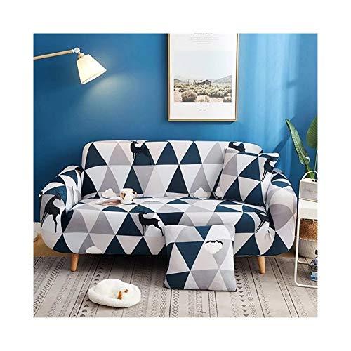 ZIJ Funda elástica para sofá con diseño de cruz para sofá de salón, funda de sofá de sofá (color: color 24, especificación: 3 plazas, 190 230 cm)