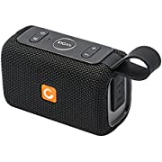 DOSS E-go Portable Bluetooth Speaker with Loud Volume, IPX6 Waterproof and Rugged for Home and Outdoor, Built-in Mic. Perfect Wireless Speaker for iPhone, Samsung and More - Black