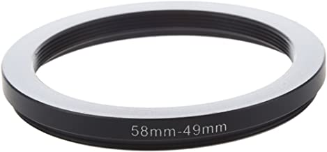Mifive 58mm-49mm 58mm 49mm Black Step Down Ring for Camera