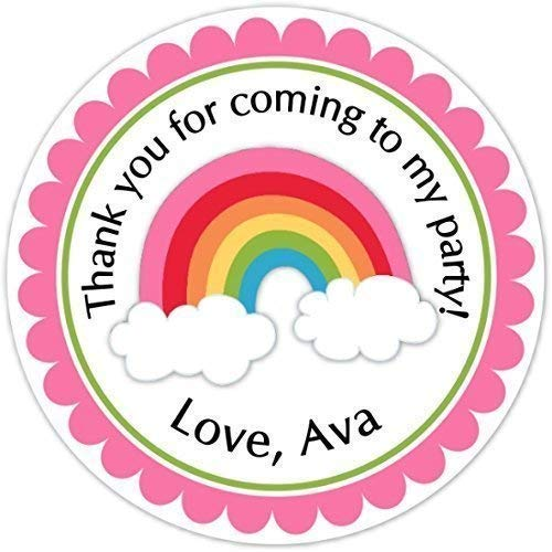 Free Shipping 30 Circle Stickers Personalized Rainbow Stickers