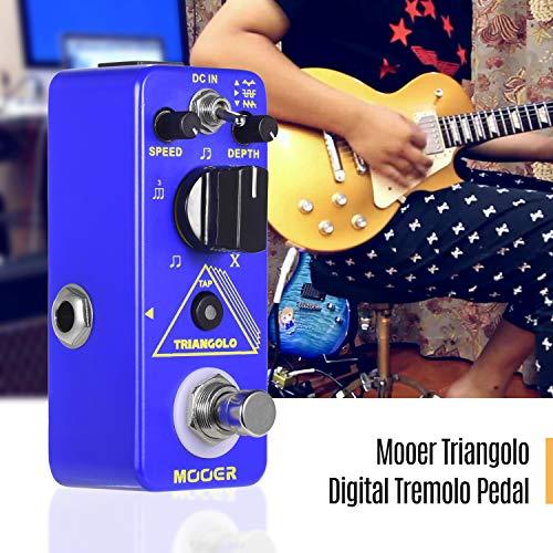 Bedler Triangolo Pedale tremolo digitale Pedale effetto chitarra elettrica Pedale compatto True Bypass serie Micro