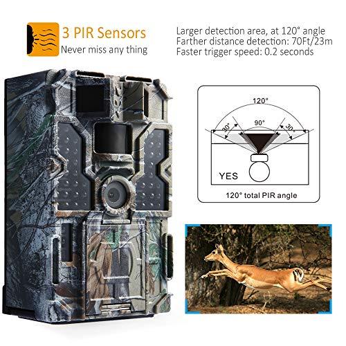 CVB Kamera 1080P 30Fps Jagdkamera 48PCS 850NM IR Nachtsicht 0.2S Auslösezeit, Zeitraffer, 20M Reichweite Wildkamera