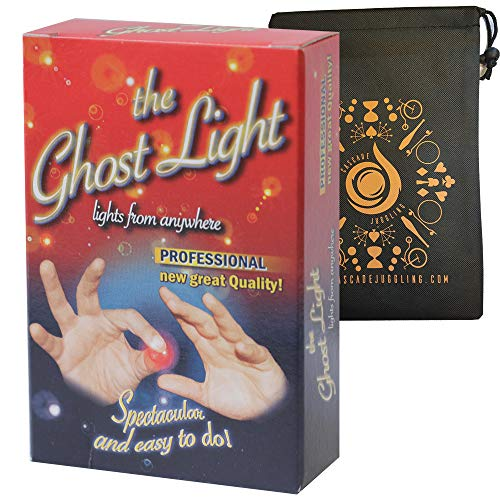 Ghost Lights - Pair of Light Up Thumb Tips - Easy Magic Trick - Includes Cascade Bag (Adult)
