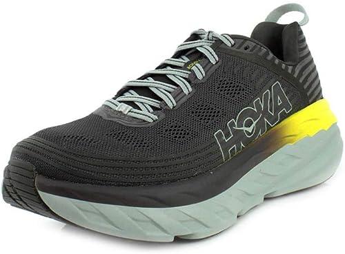 HOKA Bondi 6, Chaussures de Running pour Homme, gris (noirOlive Pavement), 44 2 3 EU