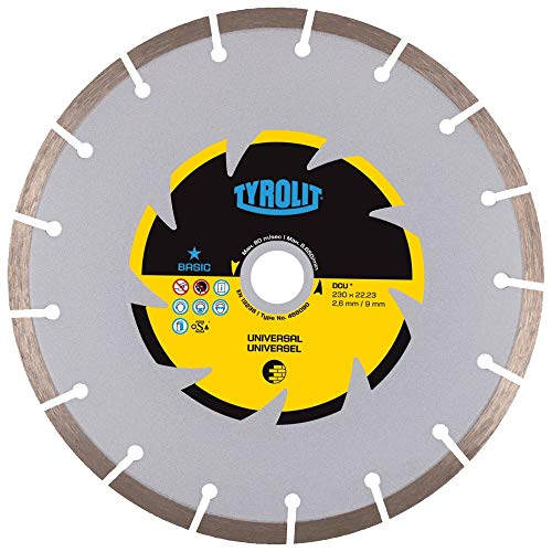 Tyrolit 466090 Diamant-Trennscheibe DCU Basic, Baumaterialien, Universal, 230 mm x 2.6 mm/9 mm
