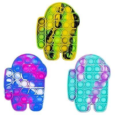 Pop Push tie dye Bubble Sensory Fidget Toy Autism Special Needs Stress Reliever