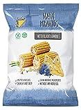 POPCROP Pyramids Mais mit Schwarzkümmel, 10 x 80 g | Knusper-Chips aus Getreide-Mischung | High Carb, Low Fat, glutenfrei, vegan| Hergestellt ohne Öl | Ohne künstliche Zusatzstoffe | Allergen-Frei
