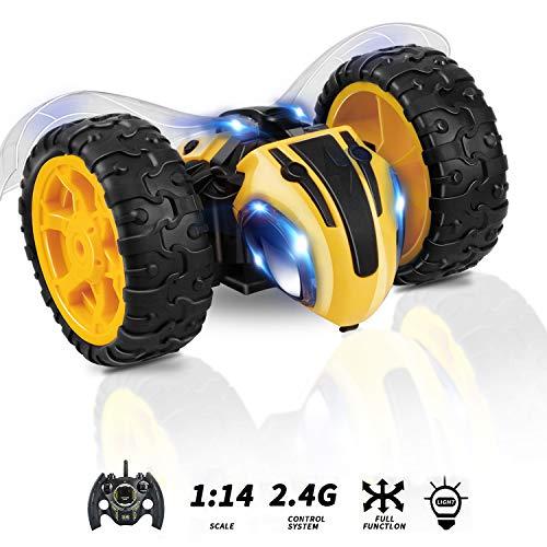 KOOWHEEL Macchina Telecomandata per Bambini 4WD Auto Radiocomandata Fuoristrada Ricaricabile da 2,4 GHz Bumble Lightning Bee Rock Crawler Electric Auto Rc Giocattoli Regali per Bambini Giocattoli