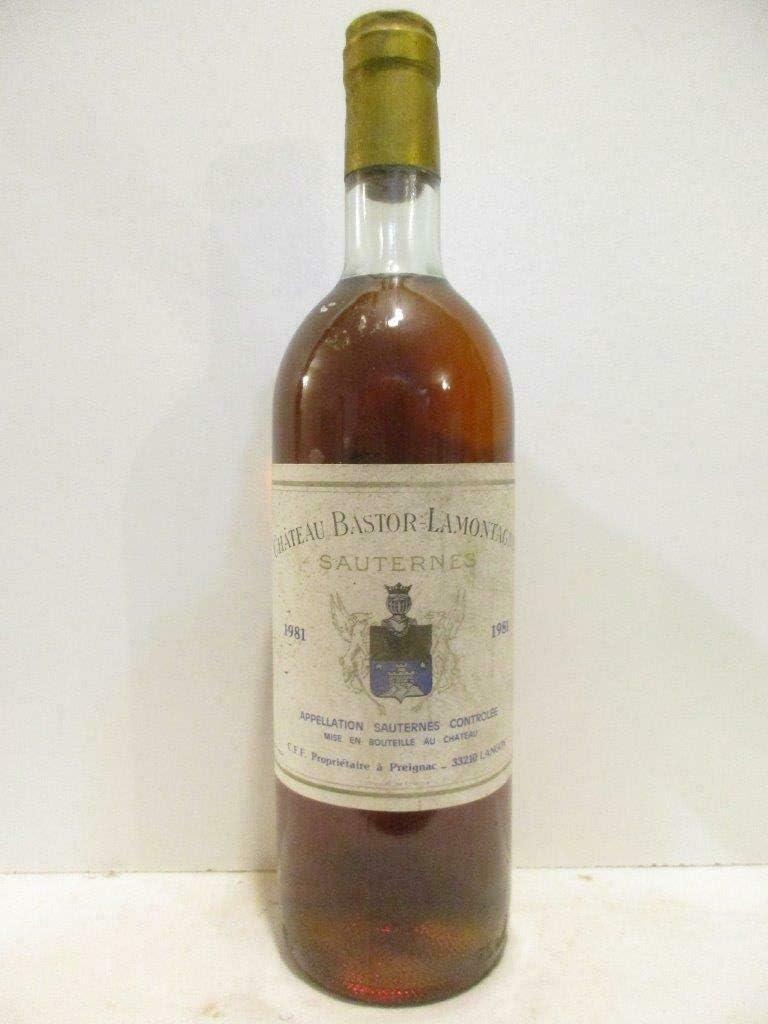 sauternes château bastor-lamontagne liquoreux 1981 - bordeaux