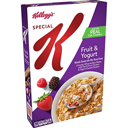 Kellogg's Special K, Breakfast Cereal, Fruit and Yogurt, Made with Real Oat Clusters, 13oz Box