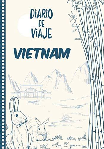 Diario de Viaje Vietnam: Cuaderno Diario,Notebook 108 páginas ILUSTRADAS Libro de Actividades de Vacaciones a Rellenar, Libro de Seguimiento de Viajes, Regalo Para Ofrecer. Made in Spain