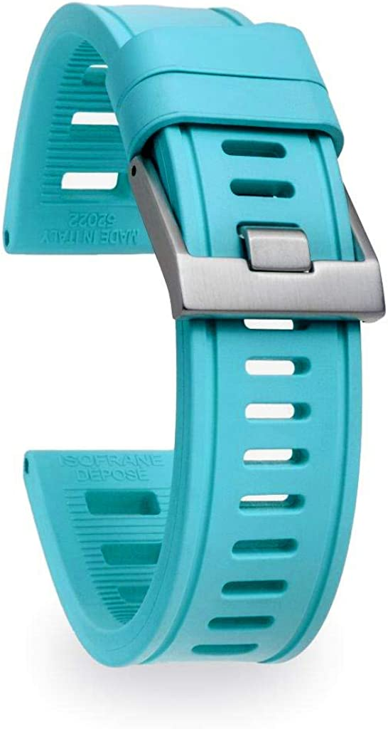 isofrane Rubber Watch Strap 人気の製品 for Sports 22mm T Watches and Dive セール特別価格