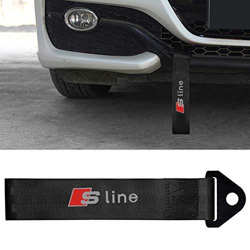 ZGYAQOO Abschleppseile Tow Strap für Audi SLINE Sline, Abschleppschlaufe AbschleppöSe, Hochfeste Nylon Abschleppband, Mit Auto Logo Markierung