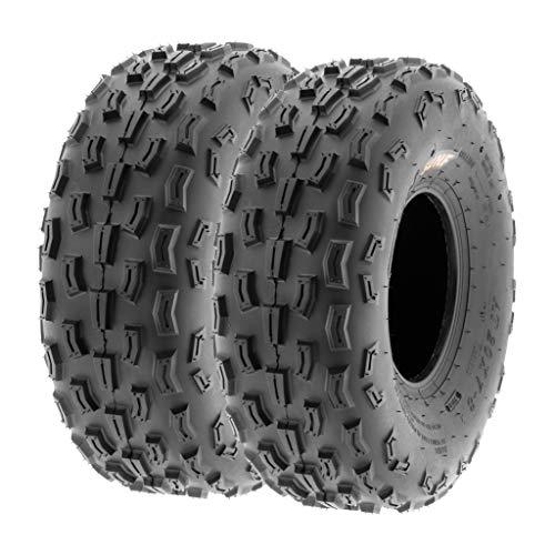 SunF 20x7-8 20x7x8 ATV UTV Tires 6 PR Tubeless A029 [Set of 2]