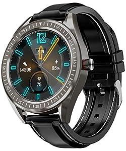 COULAX SmartWatch, GPS Uhr mit 1.3 Zoll Touch Farbdisplay, Herzfrequenz Fitness Armbanduhr, IP68 wasserdichte Sportuhr mit Schrittzähler Schlafmonitor SMS SNS Erinnerung, Stoppuhr für Damen Herren