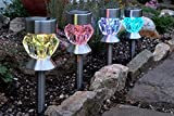 Smart Garden Crystal Glass Solar Stake Lights -...