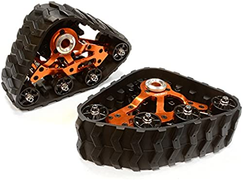 Integy RC Model Hop-ups C26088Orange Rear Snowmobile & Sandmobile Conversion for Axial 1 10 Wraith