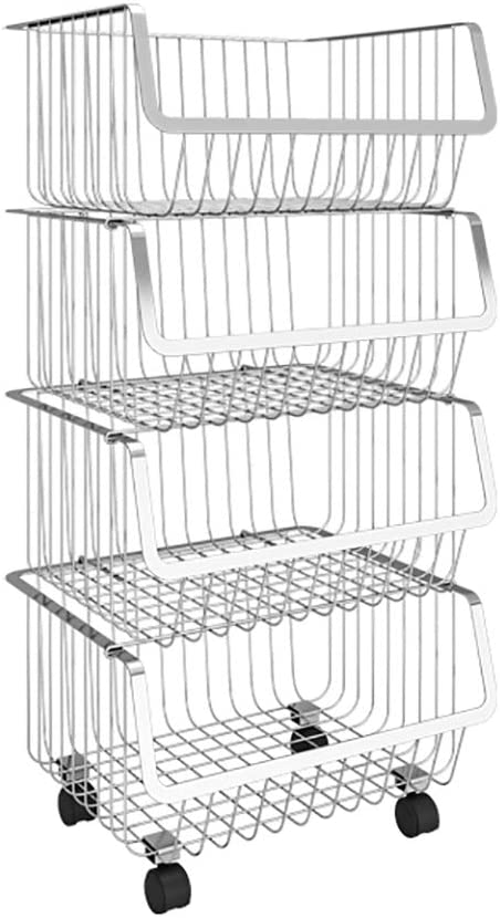 Kitchen Ranking TOP4 Cart Stainless Steel Fruit Vegetable San Francisco Mall Rack and