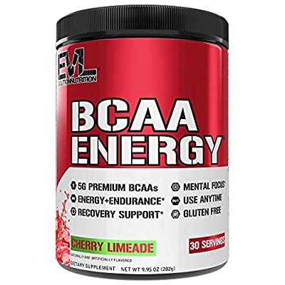 Evlution Nutrition BCAA Energy - High Performance, Energizing Amino Acid Supplement for Muscle Building, Recovery, and Endurance, 30 Servings (Cherry Limeade)