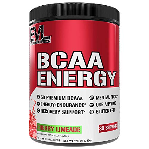 Evlution Nutrition BCAA Energy - High Performance Amino Acid Supplement for Anytime Energy, Muscle Building, Recovery and Endurance, Pre Workout, Post Workout (Cherry Lim...