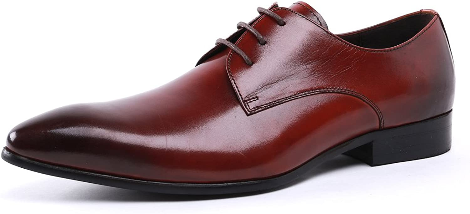UNbox Mens Lace up Patent Leather Oxford Dress shoes Formal Wedding shoes