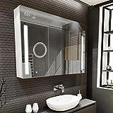 Artforma Spiegelschrank mit LED Beleuchtung 3-Türig anpassen (100 x 72 x 16,6 cm)   17 Dekore  ...