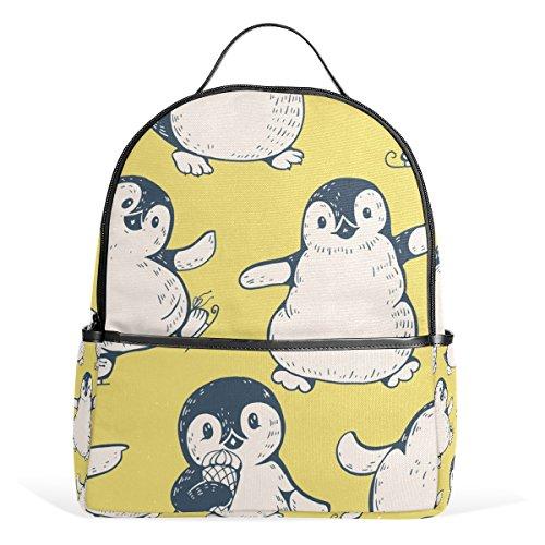 ALAZA Niedliche Penguins-Rucksack-Schule Bookbag Gelegenheits Daypack